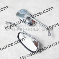 10MM Aftermarket Side Rearview Mirrors Daelim SQ125 S2 250