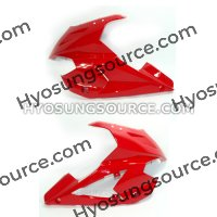 Red Left & Right Upper Cowling Fairings Hyosung GT250R GT650R