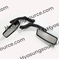 8/10mm Matt Black Rectangle Rearview Mirrors Motorcycle Scooter