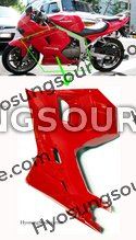 Genuine Lower Left Fairing Cowl (Red) Hyosung GT250R GT650R