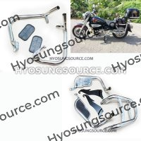 Aftermarket Engine Guard With Luggage Frame GV125 GV250