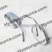 10MM Adjustable Chrome Rearview Side Mirror Daelim Hyosung