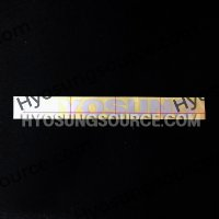 """Hyosung"" Shield Window Graphic Reflective Sticker Silver Decal"