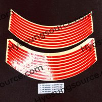 17'' Motorcycle Wheel Rim Stripe Tape Reflective Stickers Red