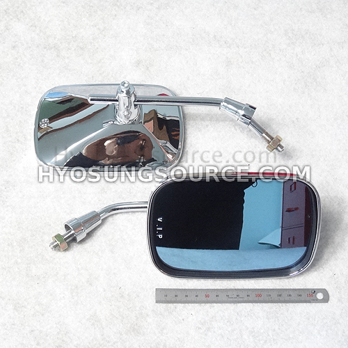 10MM Rear Side View Mirrors Smoke Blue Universal Motorcycles
