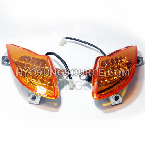 Genuine Front Turn Signal Set Amber Lens Hyosung MS3 250