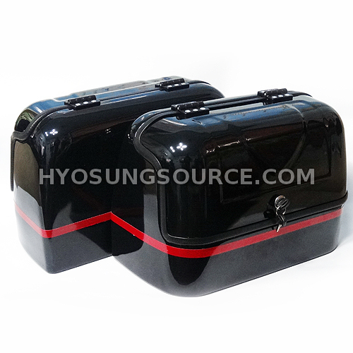 New Hard Trunk Saddlebags Black For Hyosung GV125 GV250