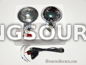 "5"" Fog Light Clear Lens Unit & Bulb/ Wiring Pair VL125 GV250"