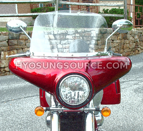 Red Cruiser Front Fairing Batwing Hyosung GV125 GV250