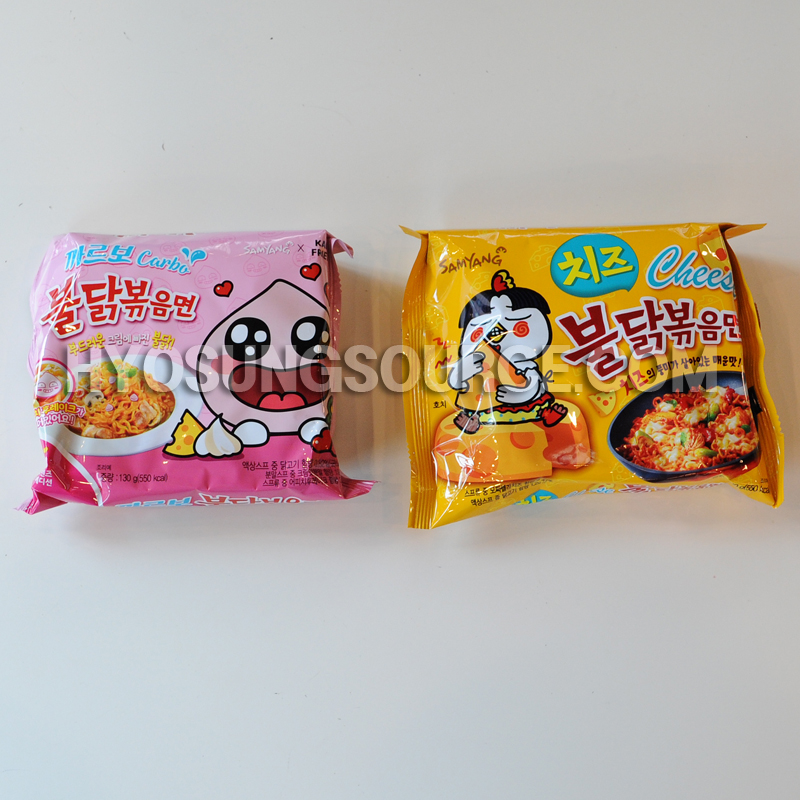 2pks!! Korean Spicy Hot Chicken Carbo & Cheese Flavor Ramen