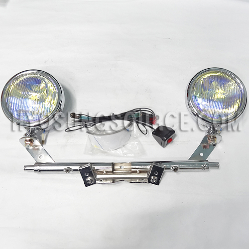 "5"" Spot Fog Light Yellow Driving Cruising Light Bar Set VL125"